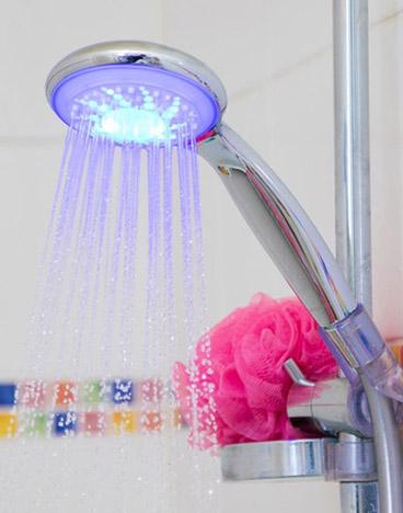 pommeau de douche connecte